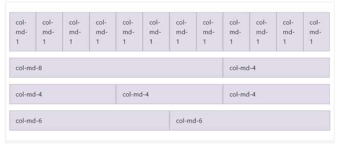 sistema rejilla filas columnas tamanios pantalla