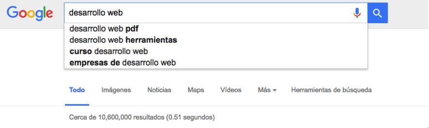 google instant para investigar palabras clave