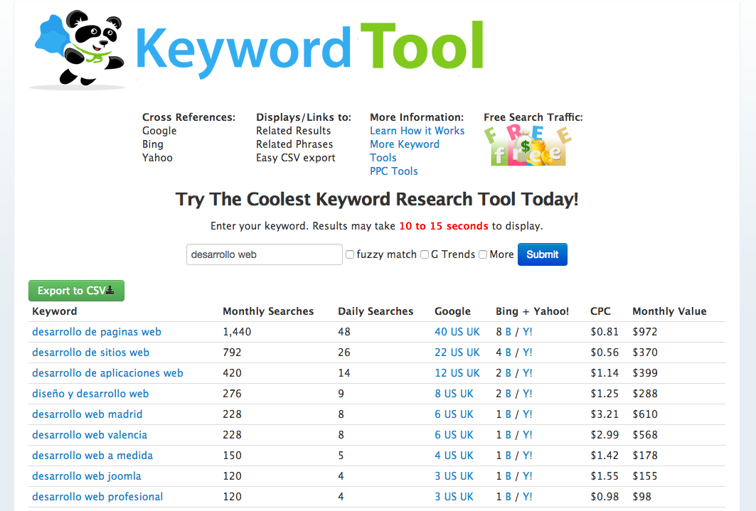seobook para investigar palabras clave