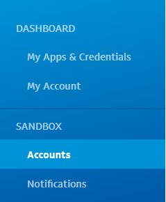 paypal sandbox menu