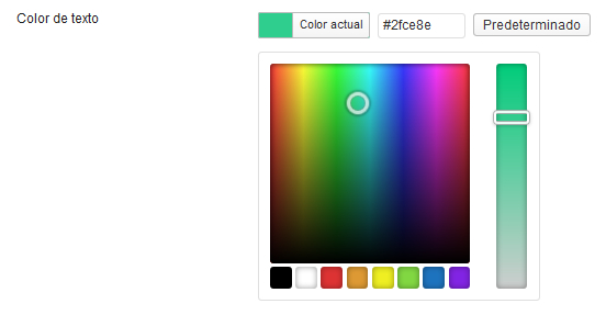 WordPress 3.5 Color Picker
