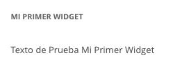 Widget con texto personalizable