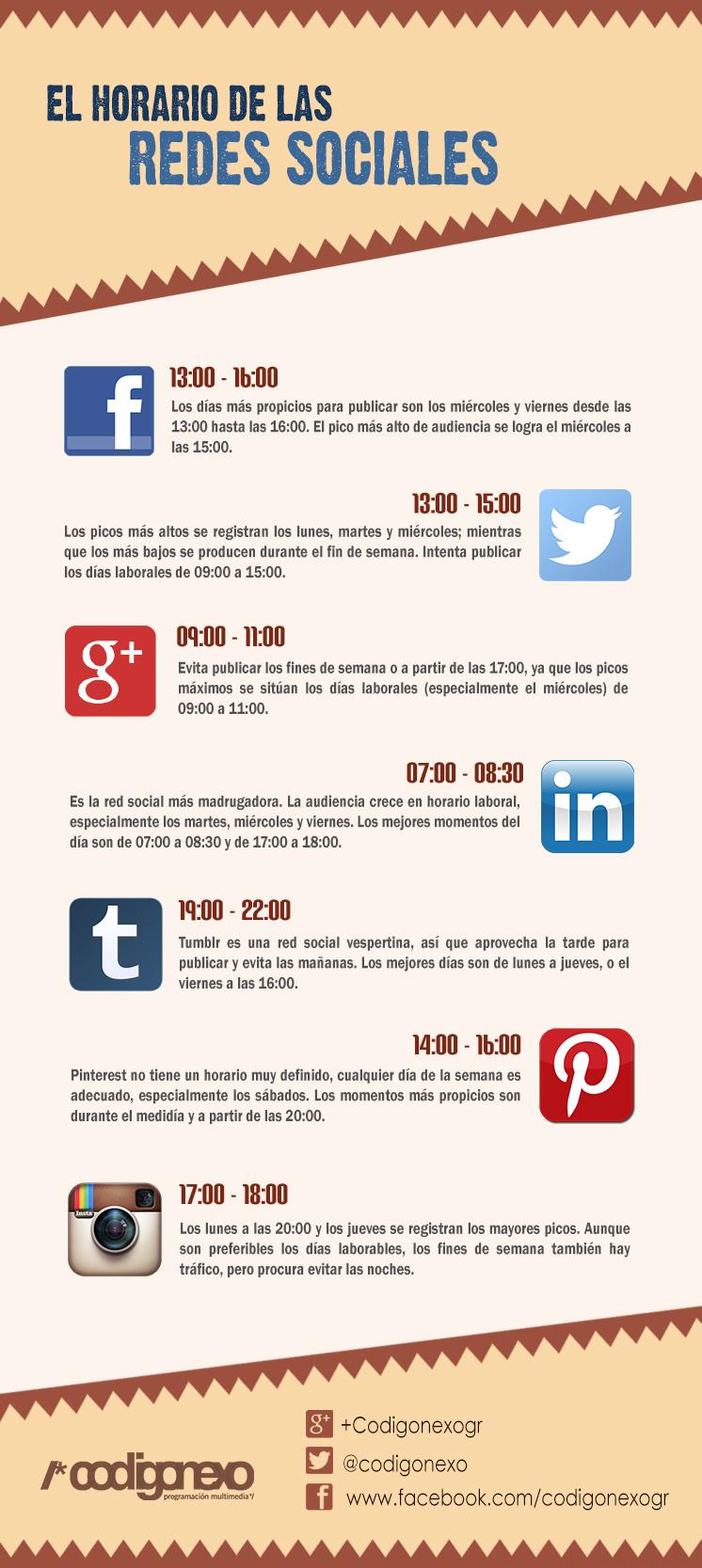 horario de redes sociales
