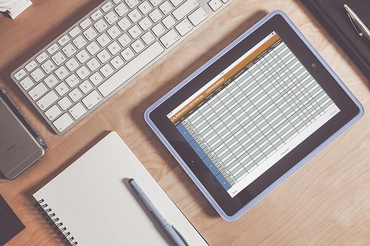 calendario editorial para contenido en redes sociales