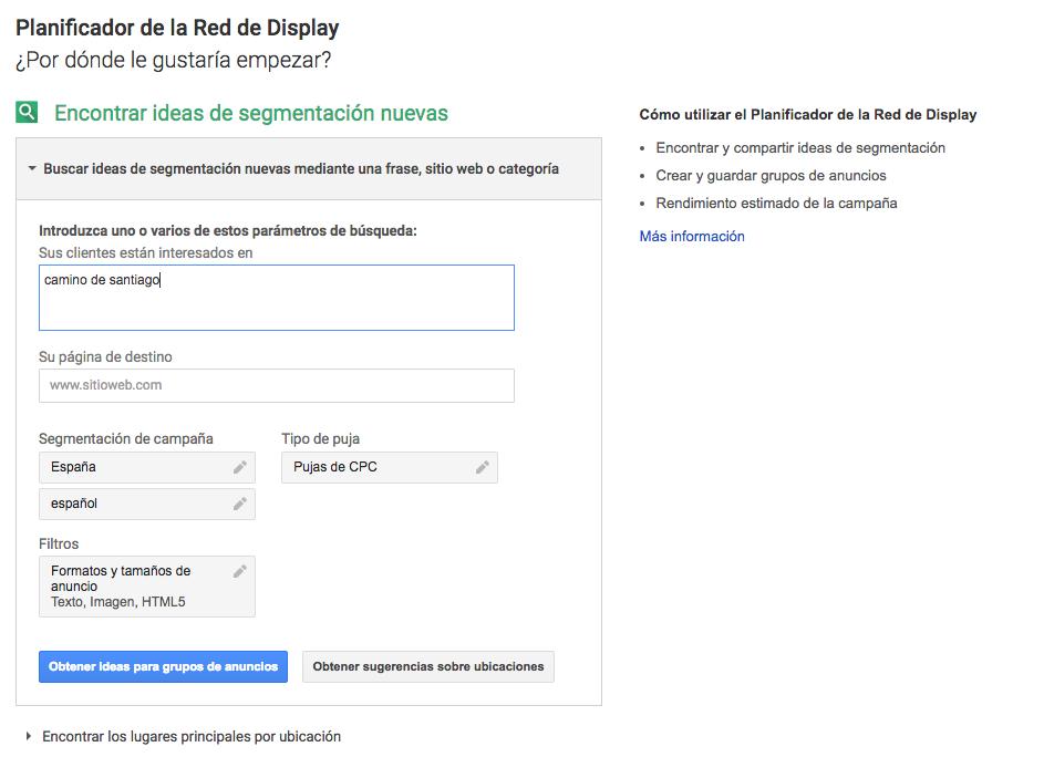 paso-1 red display para encontrar contenido
