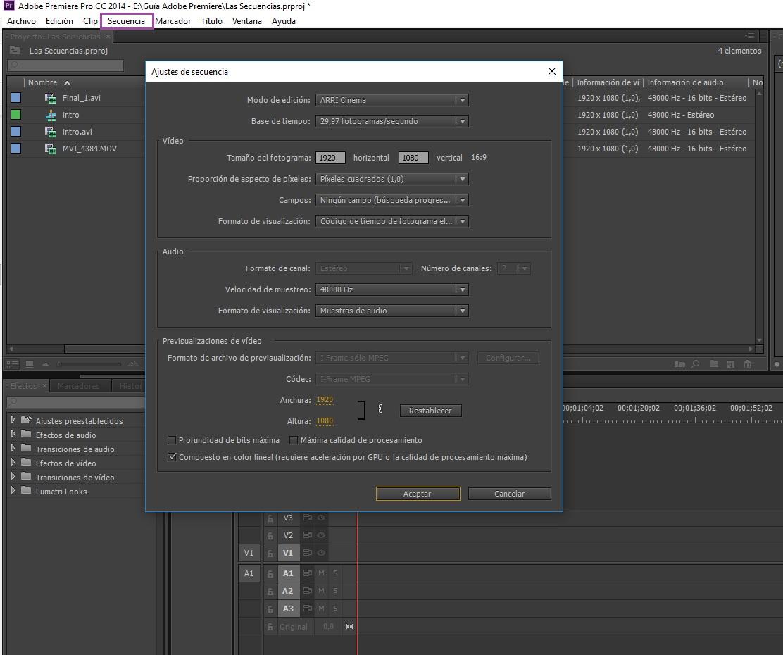 Crear secuencias 3_5