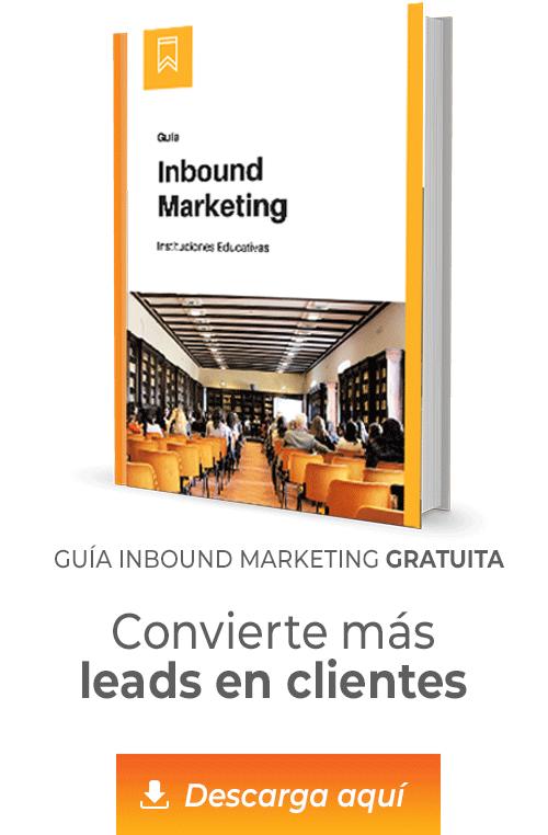 imagen guía inbound marketing en educación